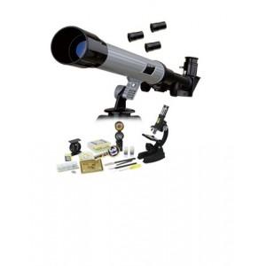 Набор Eastcolight: телескоп 30/400 и микроскоп 100-1000x, 82 аксессуара в комплекте
