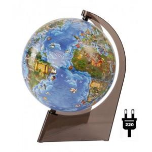 Глобус Земли для детей, с подсветкой, диаметр 210 мм