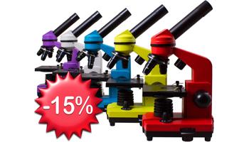Скидка -15% на все микроскопы Levenhuk!