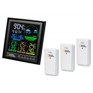 Метеостанция Bresser National Geographic VA с цветным дисплеем и тремя белыми датчиками