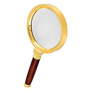 Лупа Kromatech ручная круглая 6х, 70 мм, в золотистой оправе