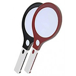 Лупа Kromatech ручная круглая 4/10х, 120/30 мм, с подсветкой (4 LED) MG80120A