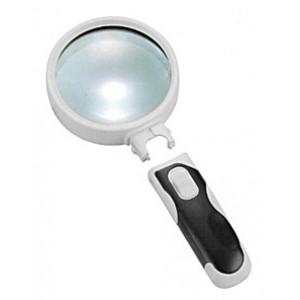 Лупа Kromatech ручная круглая 16x, 37 мм, с подсветкой (2 LED), черно-белая 77337B