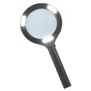 Лупа Kromatech ручная круглая 3х, 80 мм, с подсветкой (3W COB LED)