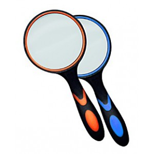 Лупа Kromatech ручная круглая 8х, 65 мм, с двухцветной ручкой
