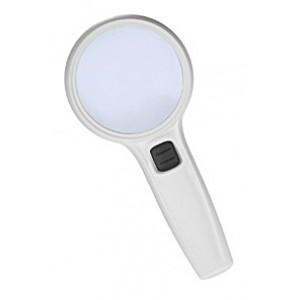 Лупа Kromatech ручная круглая 12х, 90 мм, с подсветкой (3 LED) DT7666