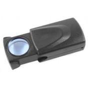 Лупа Kromatech ювелирная 30х, 21 мм, раздвижная, с подсветкой (1 LED) MG21008