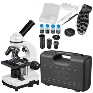 Микроскоп Bresser Junior Biolux SEL 40–1600x, белый, в кейсе