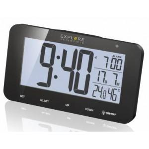Часы цифровые Explore Scientific с будильником, черные
