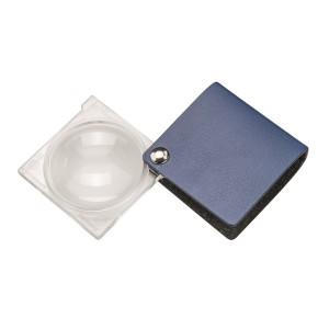 Лупа складная двояковыпуклая Eschenbach Economy 3,5x, 45 мм, синий чехол (квадратный)