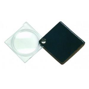 Лупа складная двояковыпуклая Eschenbach Economy 3,5x, 45 мм, черный чехол (квадратный)