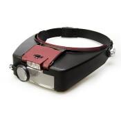 Лупа налобная с подсветкой Veber MG81007-A, 1,8x-4,8x, 88x29 мм
