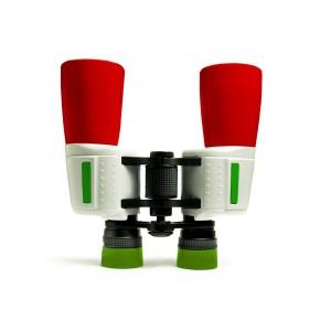 Бинокль Levenhuk Football 210R, красно-бело-зеленый