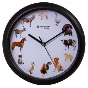 Часы настенные Bresser Junior, 25 см, с животными