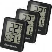 Гигрометр и термометр Bresser Temeo Hygro, набор 3 шт., черный
