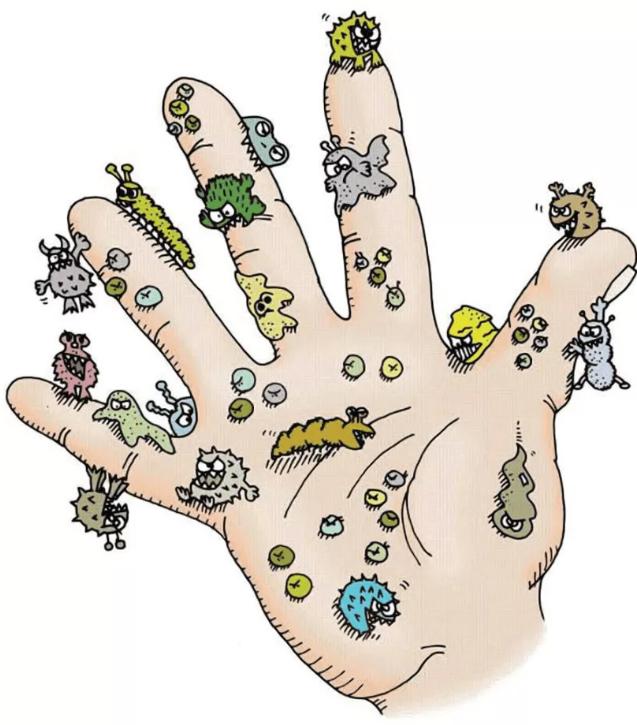цвет руки с микробами картинка всегда сопутствует